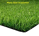 Synturfmats Artificial Grass Dog, Indoor/Outdoor Green 6.5'x8' Decorative Synthetic Turf Runner Rugs Drainage Holes