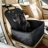 Pettom Pet Bucket Seat Cover Booster Seat 2 in 1 Deluxe Dog& Cat Front Seat Cover for Cars Non- Slip...