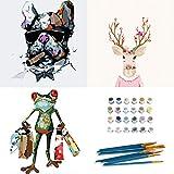 Peinture par Numero Adulte, INSOUR 3 Pièces Kits de Peinture au Numéro pour Adultes Enfants Débutant, avec Brosses et Peintures Acryliques - Chien,...