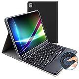 Custodia per tastiera per iPad 10.2 di 8ª generazione (2020), 7° (2019), con layout tastiera Bluetooth britannico, con tastiera wireless magnetica rimovibile, adatta per iPad da 10,2 pollici.