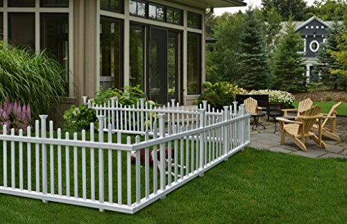 Zippity Outdoor Products ZP19001 Madison Vinyl Picket Fence, White,...