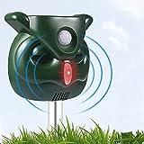PETBROO Ultrasonic Dog Chaser, Outdoor Solar Animal Deterrent with Motion Sensor and Flashing Lights Solar Farm Garden Yard, Dogs, Cats, Birds