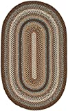 Safavieh Braided Collection BRD313A Hand-woven Reversible Area Rug, 3' x 5' Oval, Brown/Multi
