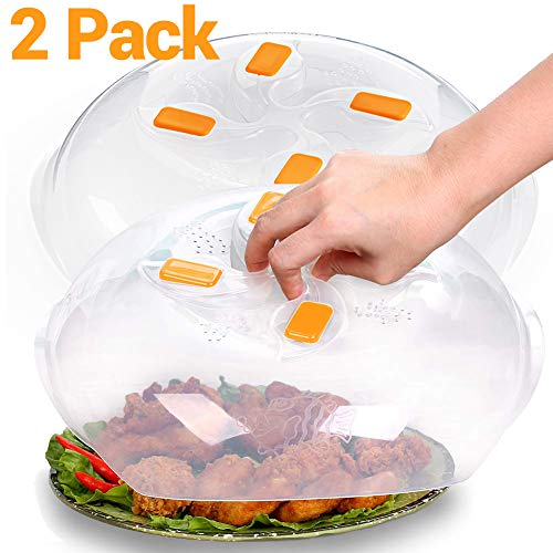 2 Pack - Microwave Plate Cover,Microwave Cover for Food,Microwave Splatter Guard Lid,11.6 Inch