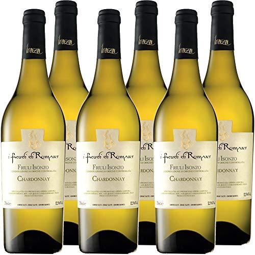 Chardonnay Doc | Friuli Isonzo | I Feudi Di Romans | Vino Bianco del Friuli | 6 Bottiglie 75 Cl | Idea Regalo