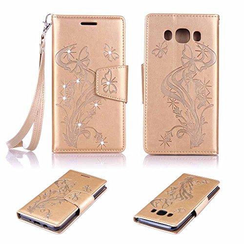 Galaxy J5 (2016) SM - J510 Custodia Pelle, Billionn Cover Filp con Disegno Supporto Stand, Protettiva Flip Portafoglio Case con chiusa Magnetica per Samsung Galaxy J5 (2016) SM - J510