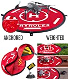 """30"""" Weighted OR Anchored Drone Landing Pad, Waterproof. Functional Carrying Bag, Stash Pocket. for All Drones up to 12' for All DJI"""