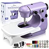 Jeteven Mini Electric Sewing Machine 2 Speed Adjustment , with Light Foot Pedal, Night Light,...