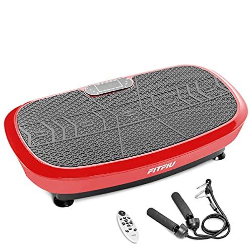 FITFIU Fitness PV-200 - Plataforma Vibratoria 3D color Rojo con...