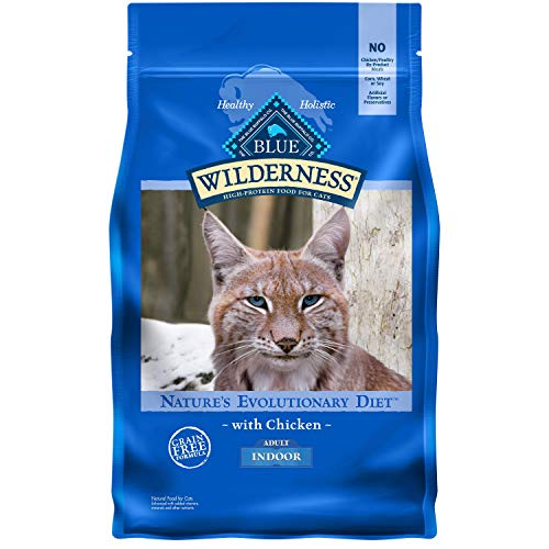 Blue Buffalo Wilderness High Protein Grain Free Natural Adult Indoor Dry Cat Food, Chicken 5-lb