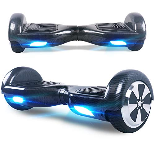Windgoo Hoverboard, 6.5 Zoll Self Balance Scooter mit Starker Dual Motor - LED Lights Elektro Scooter, Self Balancing Scooter für Kinder (Carbon)