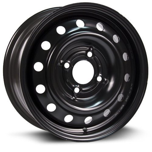 RTX, Steel Rim, New Aftermarket Wheel, 14X5.5, 4X108, 63.4, 52, black finish X99117N
