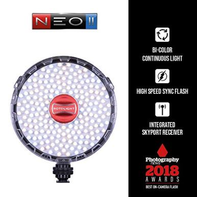 Rotolight-NEO-2-LED-Camera-Light-Continuous-Adjustable-Color-with-built-in-High-Speed-Sync-Flash