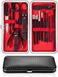 Newdora Kit Manucure Pedicure, Coupe-ongles 17 pièces Set de voyage...