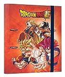 Grupo Erik Carpeta 2 anillas troquelada premium Dragon Ball - Archivador A4 -...