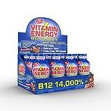 Vitamin Energy Shots - Energy Lasts up to 7+ Hours*   B12 14,000%   Keto 0 Sugar, 0 Carbs, Great Tasting Acai Pomegranate (12 Pack)