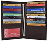 New High End Leather Bifold Credit Card Holder #1529CF Brown