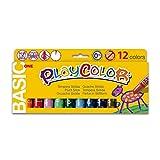 PLAYCOLOR - Gouache Solide en stick - 12 couleurs - 10 g