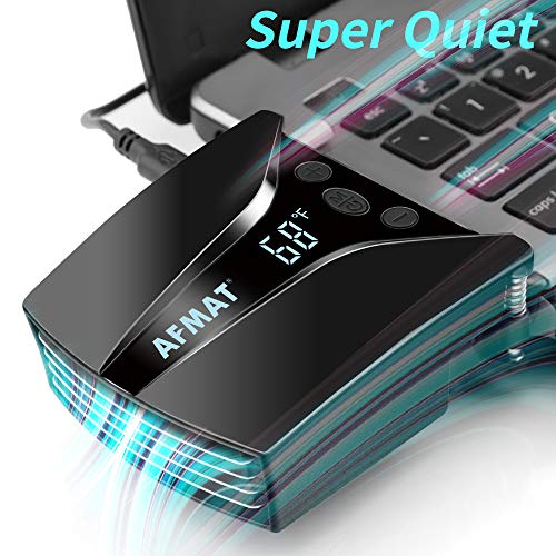 Laptop Cooler, Laptop Cooling, Laptop Fan, Laptop Cooling Fan with Temperature Display, Rapid Cooling, Auto-Temp Detection, 13 Wind Speed(2600-5000RPM), Fan Cooler for Gaming Laptop, Nintendo Switch