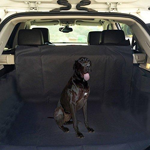 Ploopy hundematte auto kofferraum, Kofferraumschutzdecke mit Stoßstangenschutz, Wasserfestes, Hochwertiges Material Schützt Ihre Auto-Kofferraum vor Schmutz und Tierhaaren, 155*104*33cm Schwarz