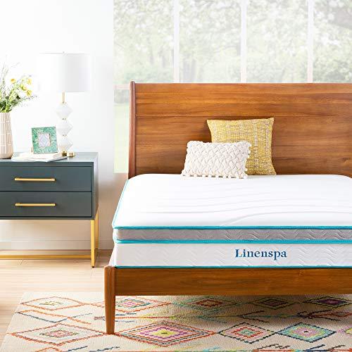 Linenspa Memory Foam and Innerspring Hybrid Mattress - Medium Feel - Queen,10 Inch