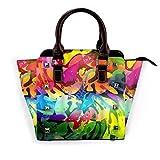 Glamoroso pavo real en flor de peonía en pintura de paisaje decoración desmontable tendencia de moda bolso de hombro para mujer bolsos de mensajero