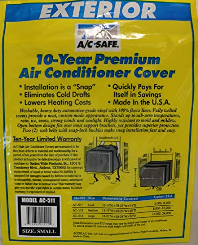A/C Safe Exterior Cover for Small Window Air Conditioners, Neutral color