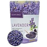 Cedar Space Dried Lavender Buds Sachets Flowers - 100% Natural Premium Grade Dried Lavender Buds Perfect for Tea, Sachets, Baking, Lemonade, Baths, Fresh Fragrance