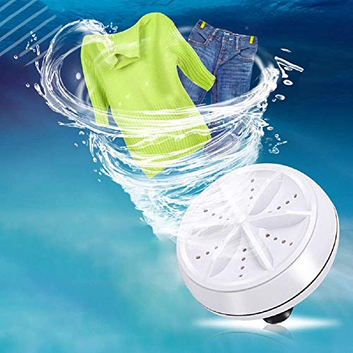 Dravizon Mini Washing Machine Portable Personal Rotating Ultrasonic Turbine Washer Adjustable with USB Cable Convenient for Travel Home Business Trip