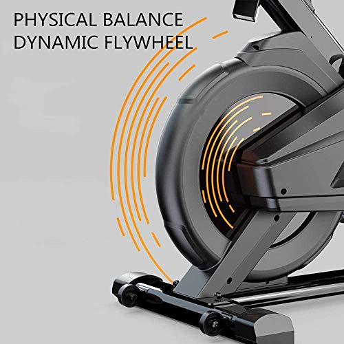 YFFSS Exercise Bike, Indoor Smart Exercise Bike, Home Silent Stationary Bike, Safety Non-Slip Pedal, with Moving Roller and Level Adjuster, Suitable for Offices, Gyms 7