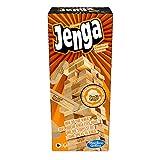 Jenga classique, jeu avec blocs en bois massif véritable, tour Jenga à empiler pour enfants, à partir de 6ans