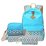 MingTai Backpack Mochilas Escolares Mujer Mochila Escolar Lona Bolsa Casual Para Chicas Bolsa De Hombro Mensajero Billetera Cielo Azul