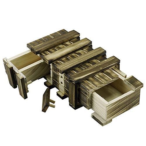 Locisne Personalisierte magische hölzerne Geschenkbox mit 2 zusätzlichen sicheren Speicherfächer...