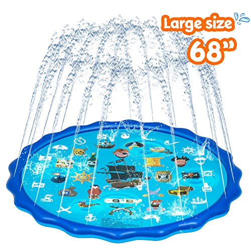 Obuby-Sprinkle-Splash-Play-Mat-Sprinkler-for-KidsUpgraded-68-Summer-Outdoor-Water-Toys-Wading-Pool-Splash-pad-for-Toddlers-Baby-Outside-Water-Play-Mat-for-1-12-Years-Old-Children-Boys-Girls