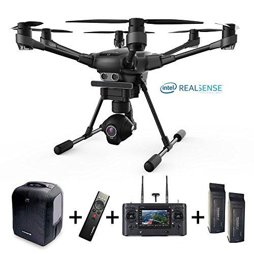 Yuneec Typhoon H versione Pro, Intel realsense, 4K, set con 2 batterie, zaino, videocamera CGO3 + telecomando Wizard ST16