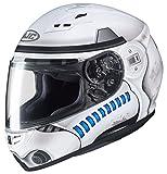 HJC Star Wars Unisex-Adult Full face CS-R3 Storm Trooper Motorcycle Helmet (White, Small)