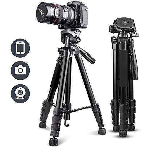 "UBeesize 67"" Camera Tripod with Travel Bag, Cell Phone Tripod..."
