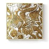 Golden Angel Mouth Tree Geometric Square Texture Canvas Painting Poster Sala de estar Decoración de la pared 60x60cm