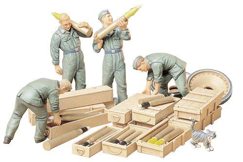 TAMIYA 35188 1:35 Fig.-Set Panzer Ladetruppe (4), Modellbausatz,Plastikbausatz, Bausatz zum Zusammenbauen, detaillierte Nachbildung