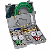 XtremepowerUS Premium Oxy Acetylene Welding Cutting Torch Kit Oxygen Brazing Professional Set Carrying Case