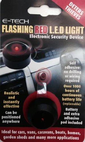 E-Tech blinkende rote LED–Dummy Alarm, Diebe–Verwendung in Auto Van Boot etc.