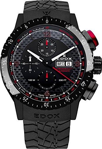 Edox Chronorally 1 Herren-Armbanduhr 45mm Armband Kautschuk Gehäuse Edelstahl Automatik 01118 37NR NRO