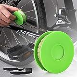 JNUYISW Bike Chain Oiler Roller Lubricator, Bike Chain Gear Oiler Lube Cleaner Lubricant Bicycle Care Tool (Green)