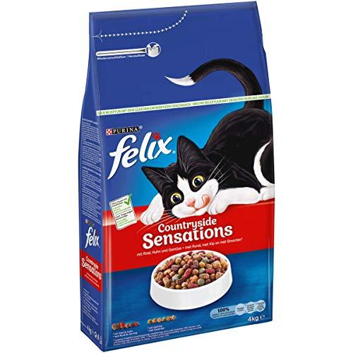 FELIX CountrysideSensations Katzenfutter trocken, mit Rind und Huhn, 1er Pack...