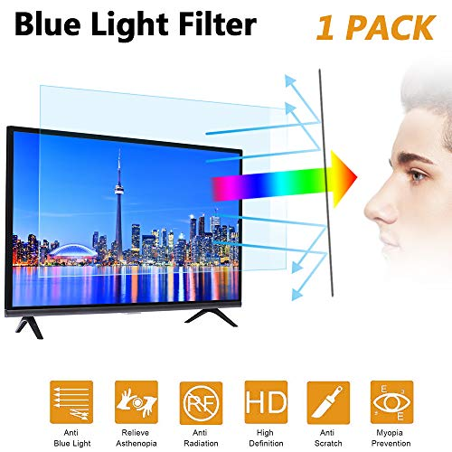 [2020 New] 32 in Blue Light TV Screen Protector - Anti Blue Light & Glare Filter Film Eye Protection Blue Light Blocking Screen Protector for 32LCD, LED, OLED & QLED 4K HDTV Display 16:9