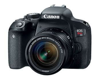 Canon EOS Rebel T7i US 24.2 DSLR Camera, Black