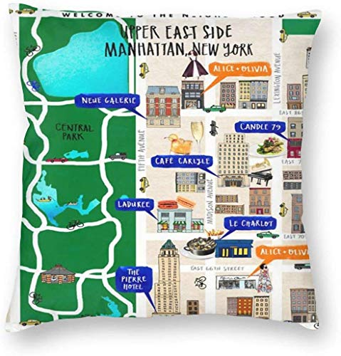 New York City Pass Pillowslip Funda de almohada única Cojin