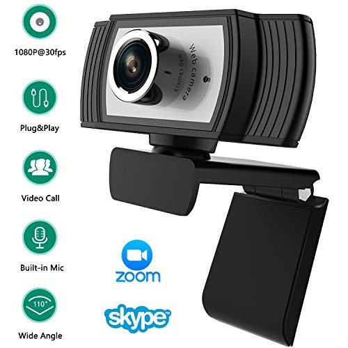 1080P Full HD Webcam, Built-in Noise Reduction Microphone Stream Webcam for Video Conferencing, Online Work, Home Office,YouTube, Recording and Streaming,Suit for Microsoft Teams