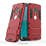 Cocomii Iron Man Armor Motorola Moto G6/Moto 1S Case, Slim Thin Matte Vertical & Horizontal Kickstand Reinforced Drop Protection Fashion Phone Case Bumper Cover for Motorola Moto G6/Moto 1S (Red)