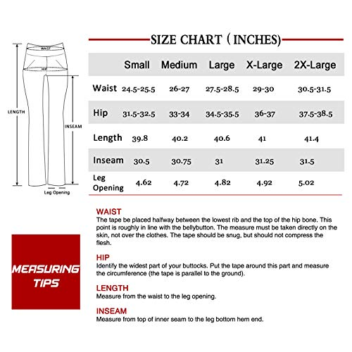 Women's Bootcut Yoga Pants Workout Wide Leg Flared Bell Bottom Loose Fit Overalls Yoga Pants for Women,Red,XL 5